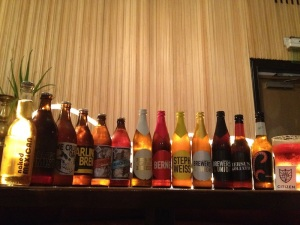 Craft beers at El Burro